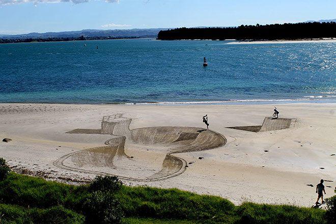 Jamie Harkins - Disegnare sulla spiaggia in 3D