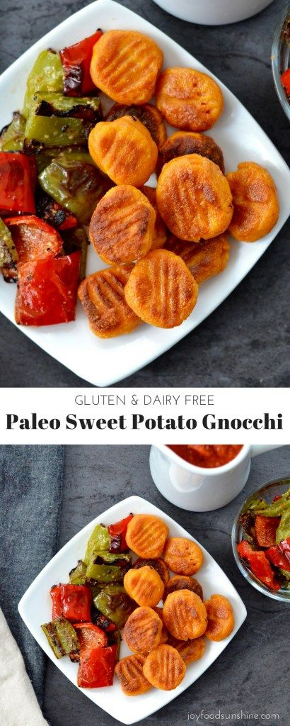 Paleo Sweet Potato Gnocchi Recipe! Made with only 6 ingredients! This healthy meal is Gluten-free & Dairy-free!