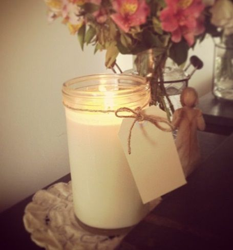 Luxury soy candles made in vintage Fowlers jars. www.glowcandles.net