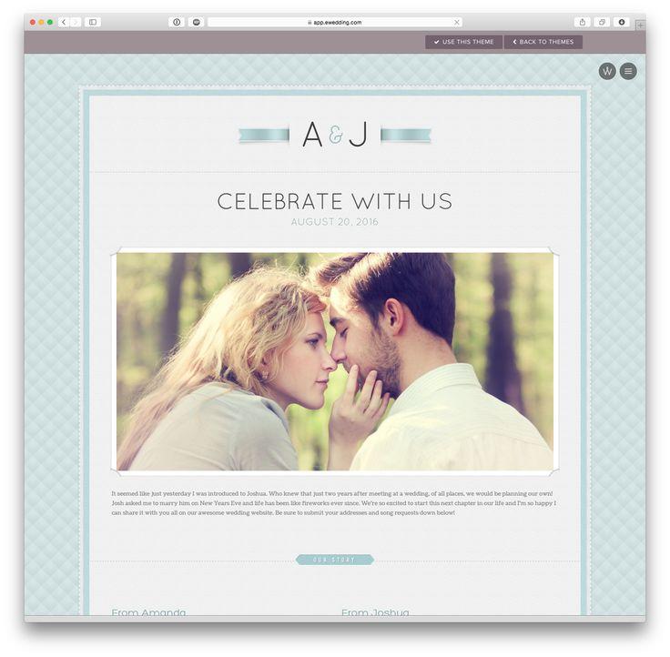 'Sofia' wedding website theme at eWedding.com
