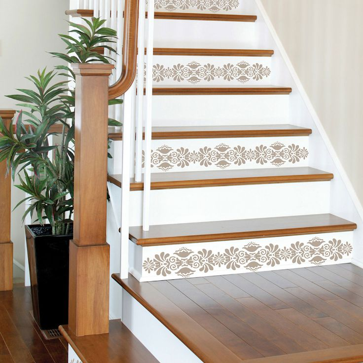 78 Best Images About Ideas For Stair Risers On Pinterest