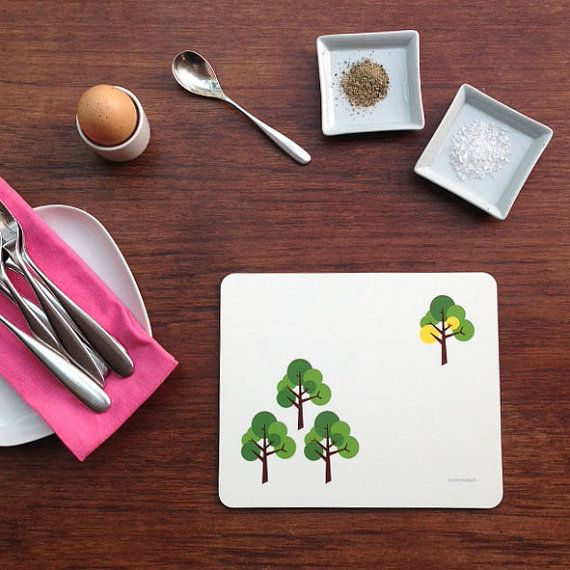 Table Mat Place Mat Placemats in Scandinavian MidCentury