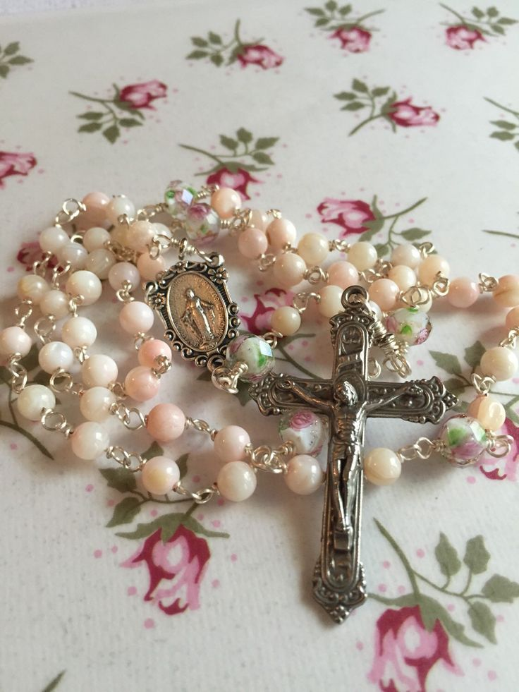 A personal favorite from my Etsy shop https://www.etsy.com/listing/250960305/new-4mm-pale-pink-mother-of-pearl-rosary