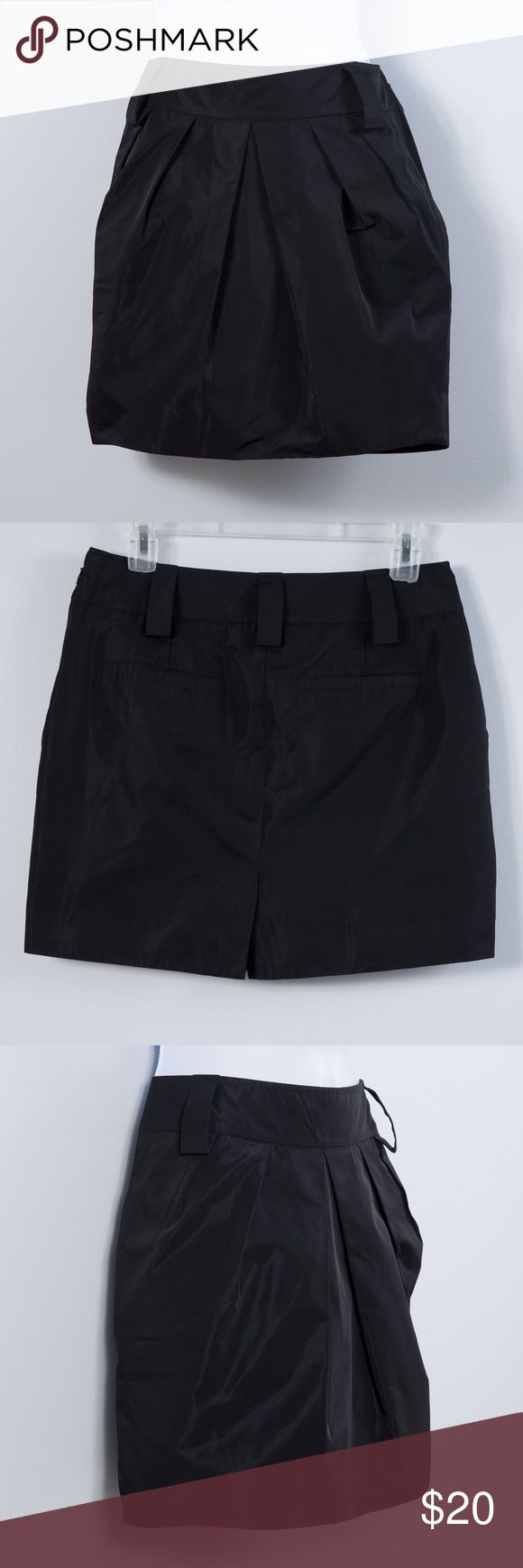 """BCBGeneration Skirt Beautiful and versatile skirt by BCBGeneration.Pleated front with two slit pockets in back and extra large belt loops.Measures 15.75"""" front center.Shell 100% polyester, lining 100% acetate.Excellent condition - worn once.Women's size 6. BCBGeneration Skirts"""