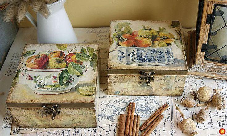 Золото фруктов. Коробочки для специй - Авторская работа, авторские принадлежности для кухни.