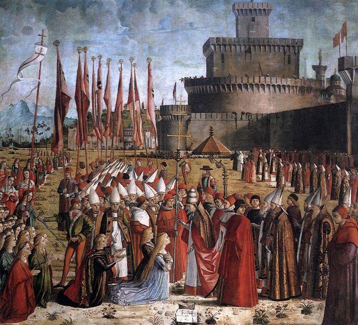 Exposition ArtThe Pilgrims Meet the Pope - Vittore Carpaccio - Religious Painting Art