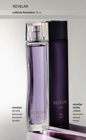 A colônia Revelar é um perfume sensual e sofisticado, sendo ao mesmo tempo leve e moderno.