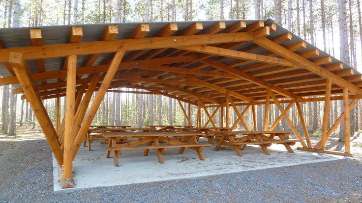Wood Picnic Shelter : Wooden picnic shelter outdoor patio backyard pinterest