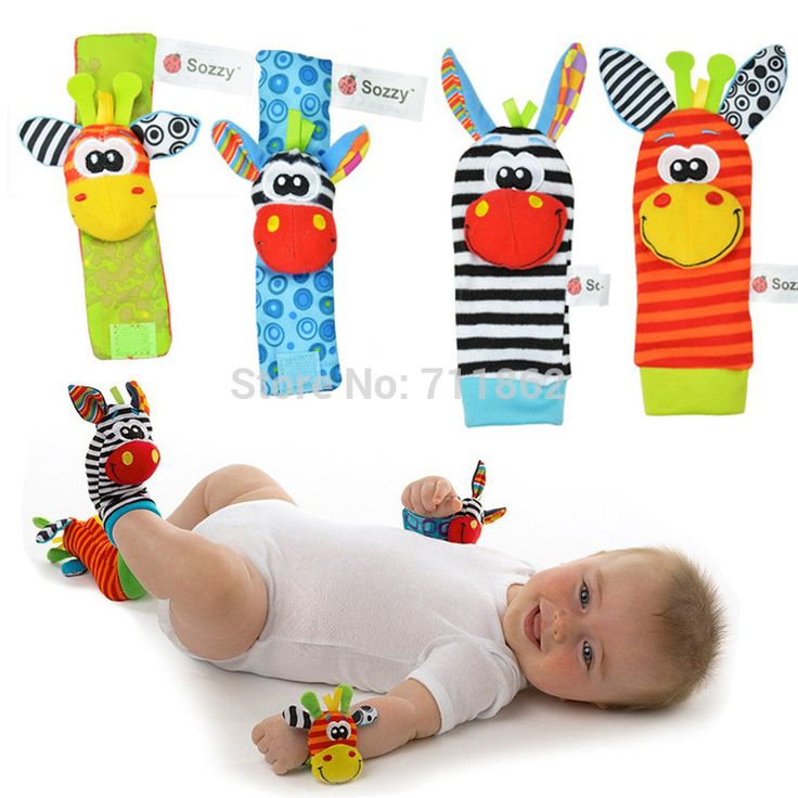 $4.59 - Nice sozzy 4pcs/lot lovely baby rattle toys Wrist Rattle and Foot Socks for infant child gift - Buy it Now!