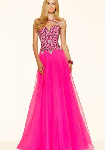 Cheap and Australia 2016 Fuchsia A-line Scoop Neckline Sequins Organza Floor Length Evening Dress/ Prom Dresses 98064 from Dresses4Australia.com.au