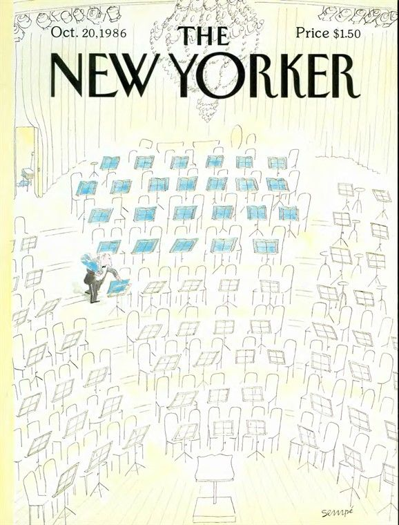 Jean-Jacques Sempé | The New Yorker Cover 1986