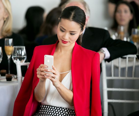 Jamie Chung's Bridal Fashion Week Diary - A Final Glance from #InStyle