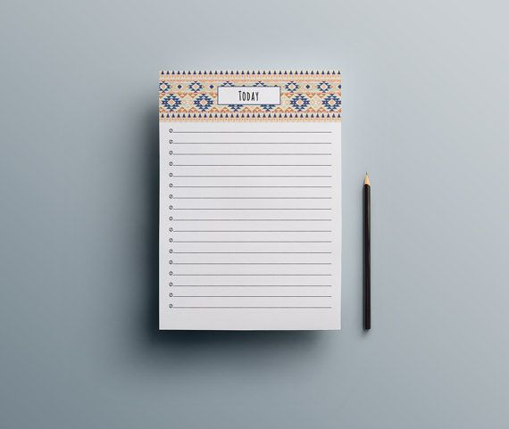 Notepad / To Do List Notepad / Stationary Notepad / by UrbanDsigns
