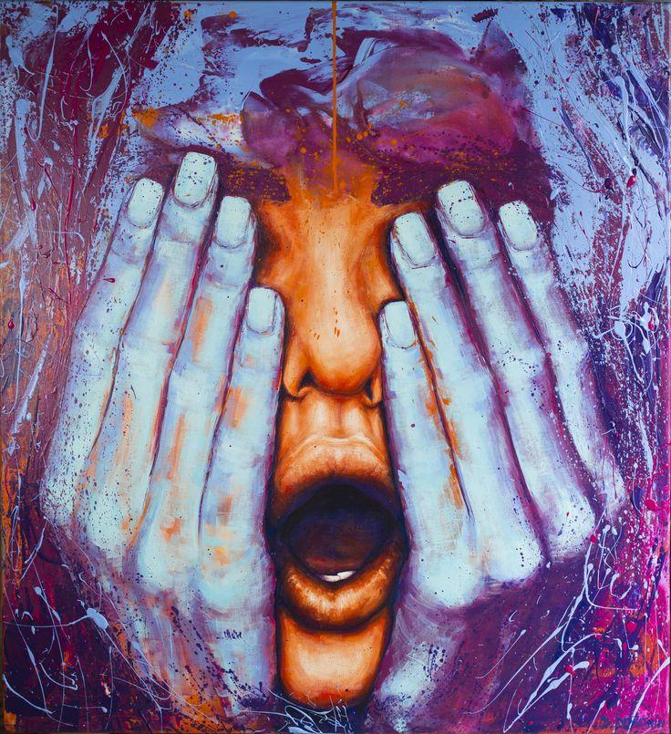 Indigo 100/110/3 cm Acrylic on canvas