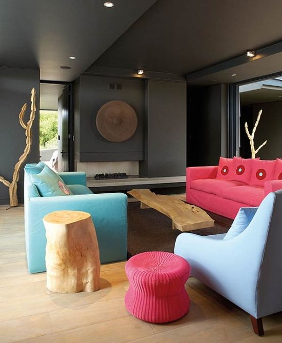 Interior Designer Stephen Falcke Was Briefed To Brighten Up The Living Room Of This Boggams Bay In South AfricaHollywood