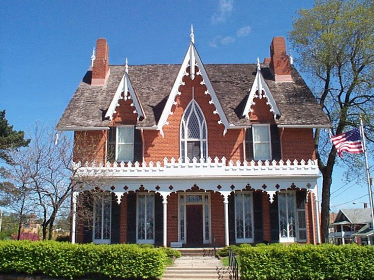 165 best images about 19th century american homes for Gothic revival house