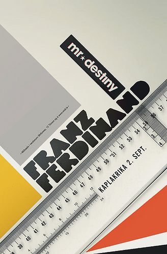 Franz Ferdinand Gig Poster #swiss #minimal #geometric