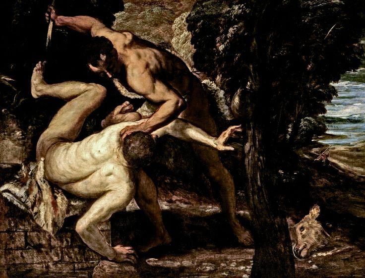 """""""ASSASSINATO DE ABEL"""" (1550-1555), de Tintoretto - Os artistas da escola renascentista veneziana de pintura delinearam uma nova concepção da figura, em termos de gosto e da relação com a luz e o espaço. A tela de Jacopo Robusti (1518-1594), o Tintoretto, é reputada por especialistas como antecessora importante do dramático estilo desenvolvido por Caravaggio no final do século 16. - See more at: http://bravonline.abril.com.br/materia/guia-do-renascimento-para-o-seculo-21#sthash.blDEtRiK.dpuf"""