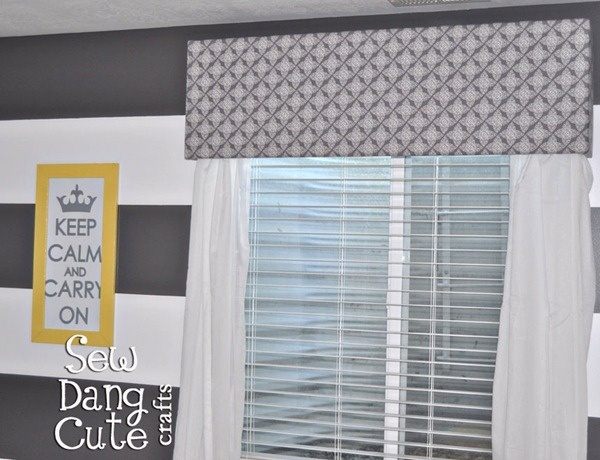 DIY Cornice {No-Sew Fabric Valance} for breakfast nook