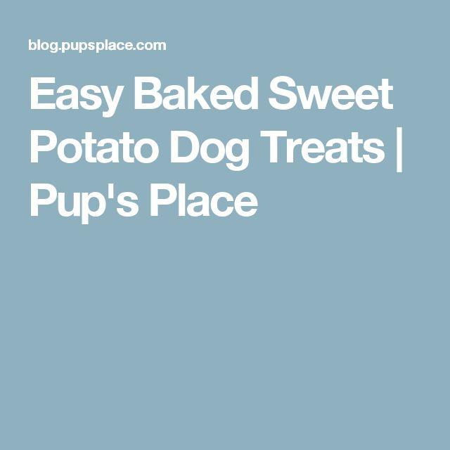 Easy Baked Sweet Potato Dog Treats | Pup's Place