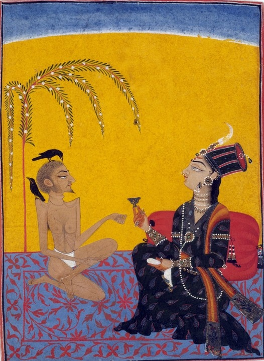 Laila visiting her lover Majnun in the desert