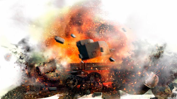 German artillery G.Pz. Mk. VI (e) photoshop collage