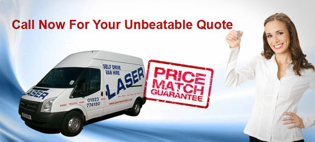 Van rental Watford. Laser van rentals provide van hire and commercial vehicle hire services in Watford, Hertfordshire. Full range of vans available for hire including Ford Connect van, transit van hire, Luton vans and right up to 7.5 tonne box lorry.