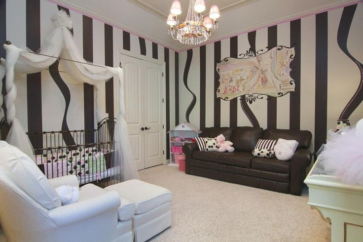 The black and white baby's room