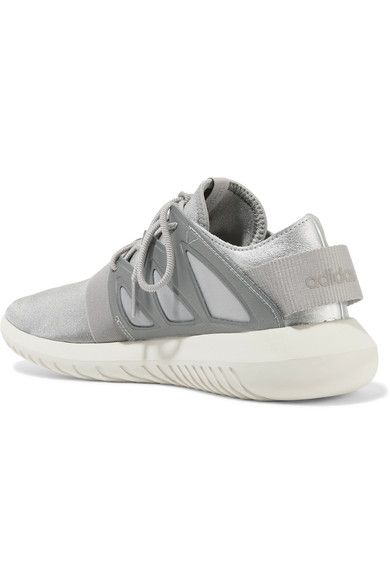 adidas Originals - Tubular Viral Neoprene And Leather Sneakers - Silver - US10.5