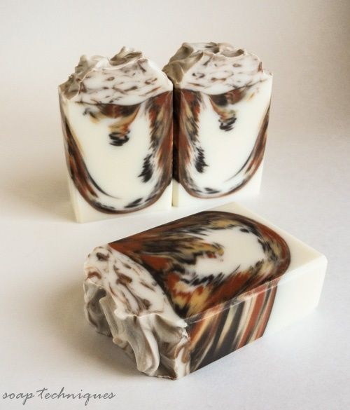 Feathered In-The-Pot Swirl Handmade Soap by Soap Techniques