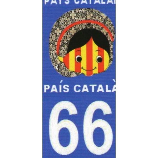 Autocollant immatriculation petite catalane nina catalane - molt bonic!