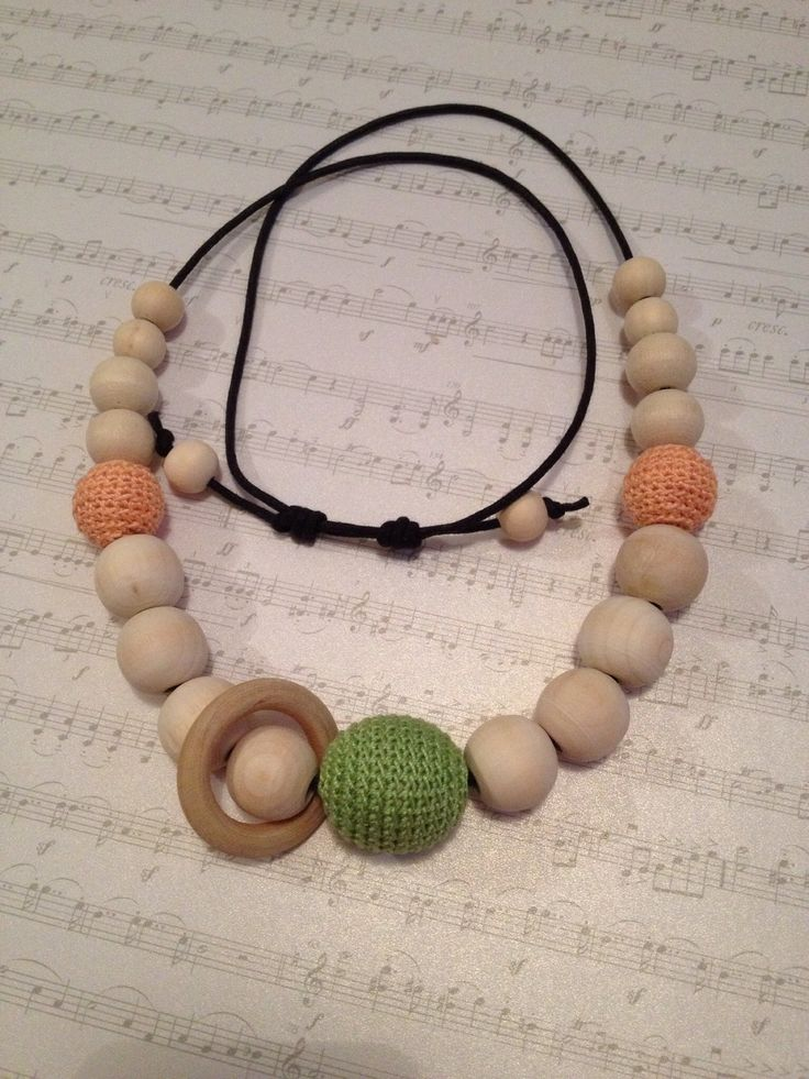 Mummy Necklace, all natural raw beads with 100% cotton crochet beads. $35 available from facebook.com/posieandme
