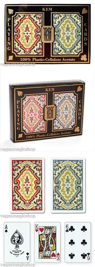 Playing Cards 166571: Kem Paisley Plastic Playing Cards 2 Deck Set Blue Red Narrow Bridge Size + Case -> BUY IT NOW ONLY: $33.24 on eBay!