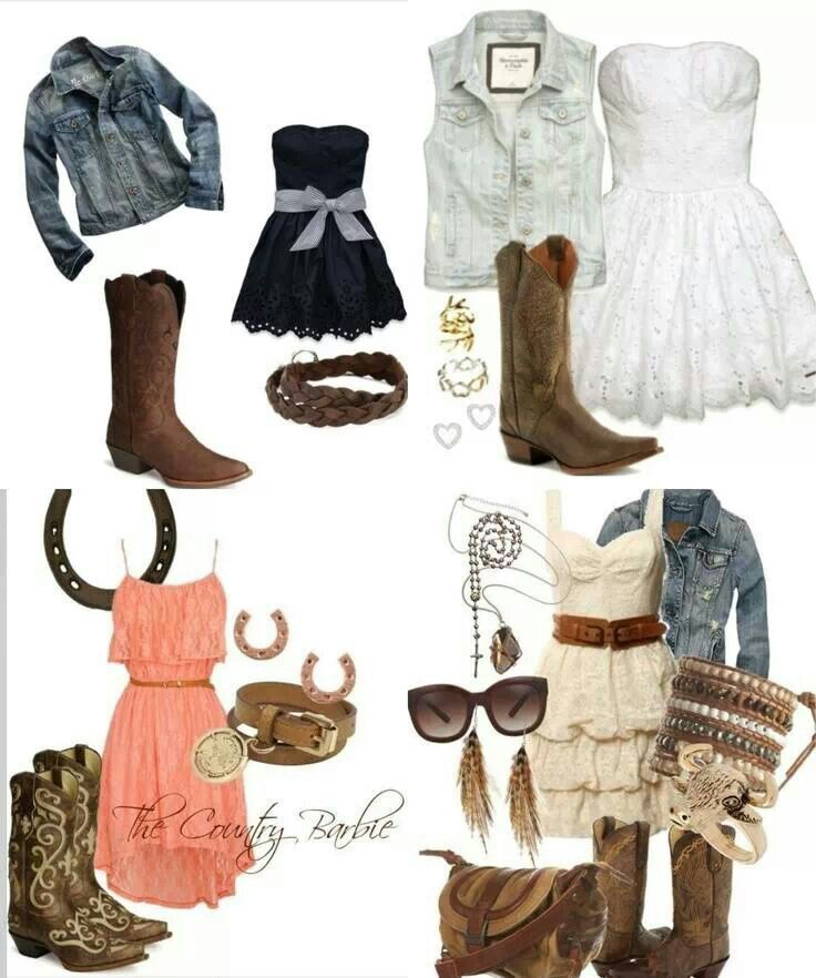 Country dresses and boots