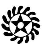 "SESA WO SUBAN. african symbol. ""Change or transform your character""  symbol of life transformation  This symbol combines two separate adinkra symbols, the ""Morning Star"" which can mean a new start to the day, placed inside the wheel, representing rotation or independent movement."
