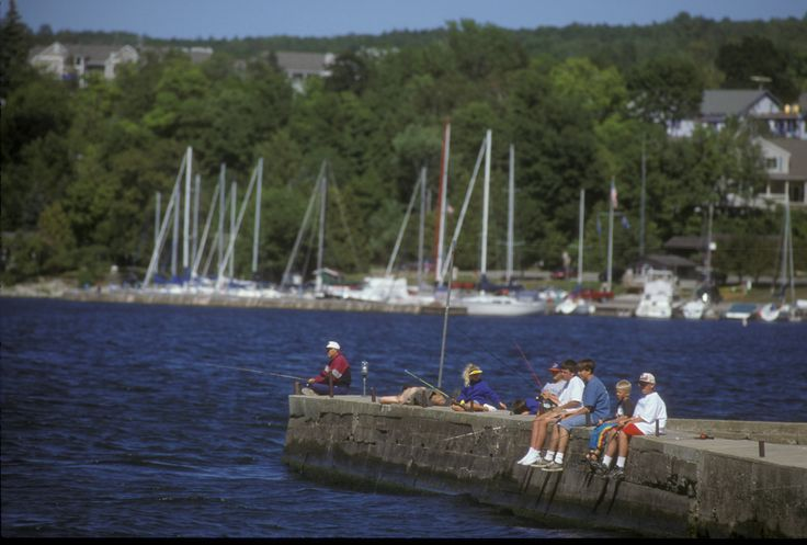 Fishing off the alpine resort pier is awesome alpine for Wisconsin fishing lodges