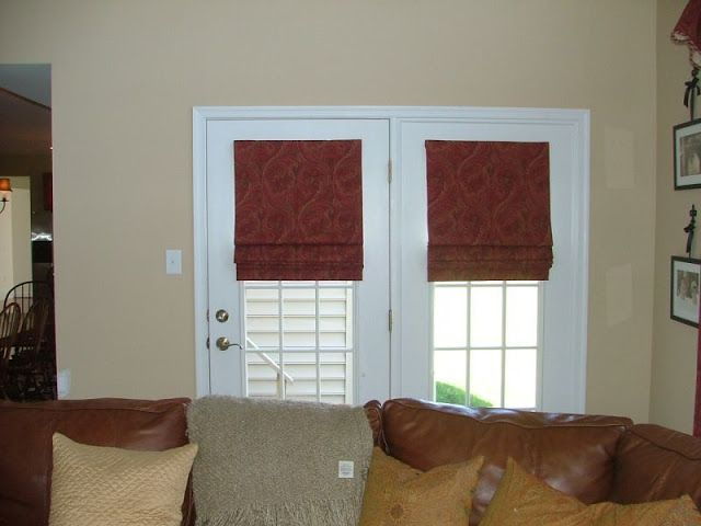 French Door french door roman shades : 17 Best images about window treatments on Pinterest | Window ...