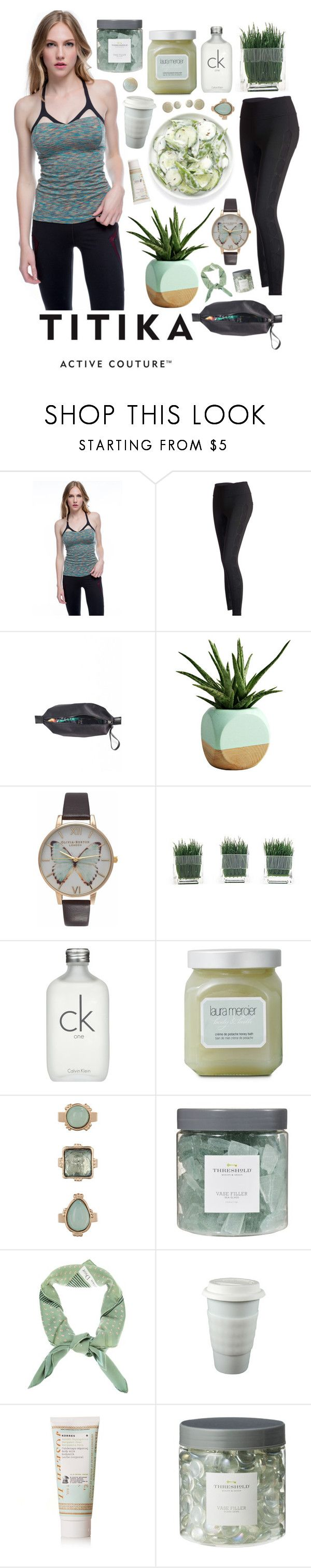 """""""lyla."""" by cauchemar-exquis ❤ liked on Polyvore featuring Titika, Dot & Bo, Olivia Burton, Calvin Klein, Laura Mercier, 10 Bells, Threshold, Christian Dior, Korres and WALL"""