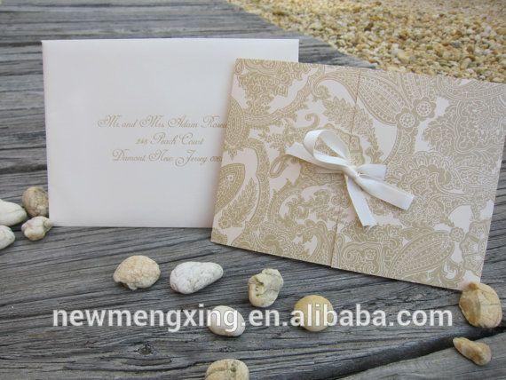 Роскошный золотые ворота раза свадебные приглашения newmengxing
