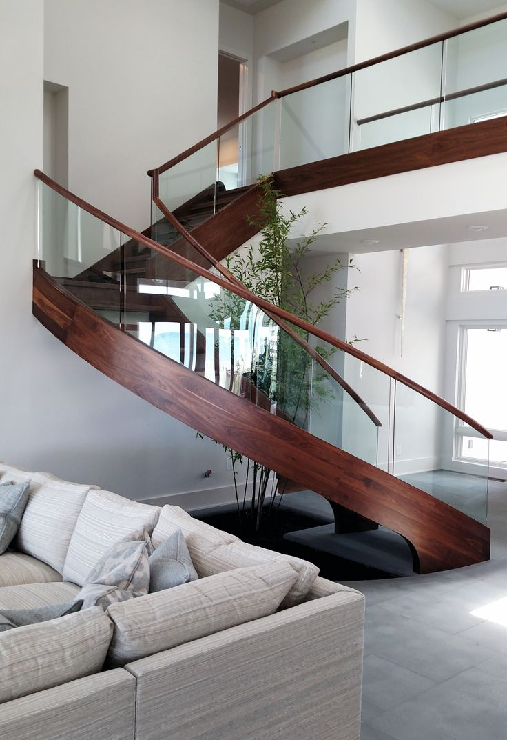 Beautiful Freestanding Curved Stair In Myrtle Beach, SC. A True Work Of Art.
