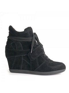 Ashbowie suede high-top wedge trainers