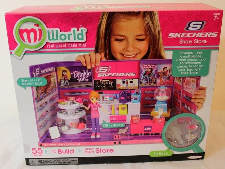 NIB MIWORLD MI WORLD SKECHERS SHOE STORE PLAYSET 55 PIECE BUILD MINI MALL NEW #JAKKSPASIFIC