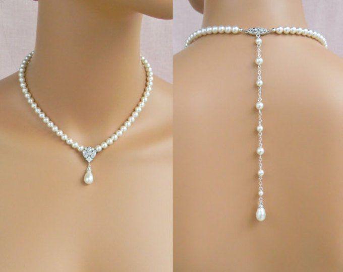 Cadena perlas Rose rosa collar nuevo