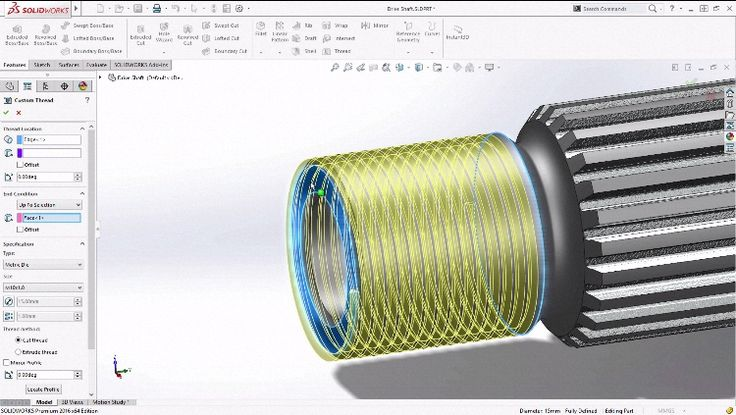 Take a look at how thread creation can be done faster and easier in SOLIDWORKS 2016!
