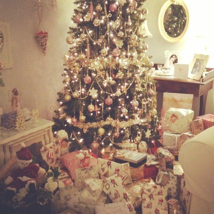 Pinterest Gorgous Christmas Decor Shabby Chic Beautiful Tree Holiday