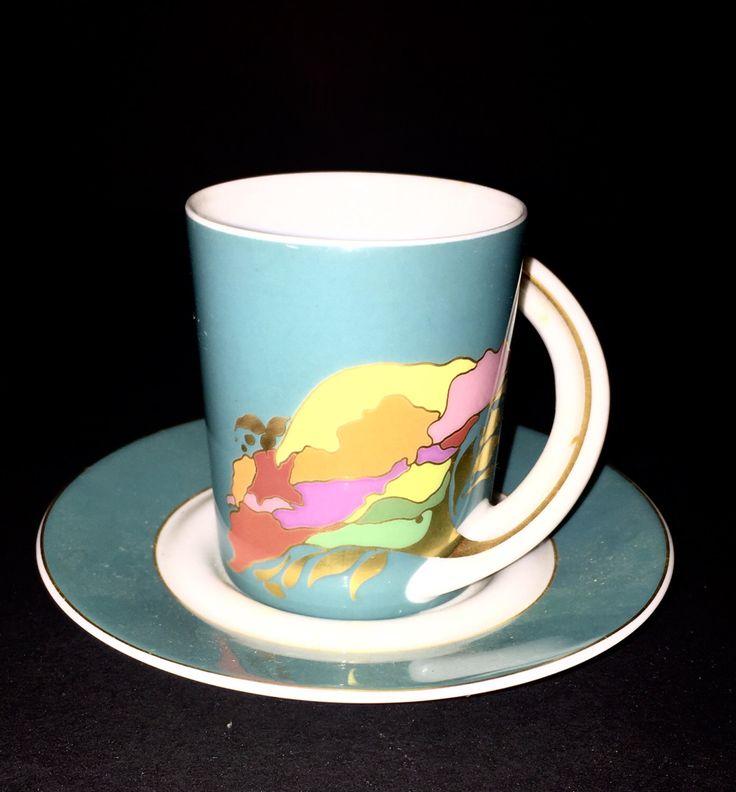 Vintage Designer Signed Bjorn Wiilblad Series Espresso Cup - Rosenthal Cupola Studio Line # 9 by SoloSurvivors on Etsy https://www.etsy.com/listing/493822569/vintage-designer-signed-bjorn-wiilblad