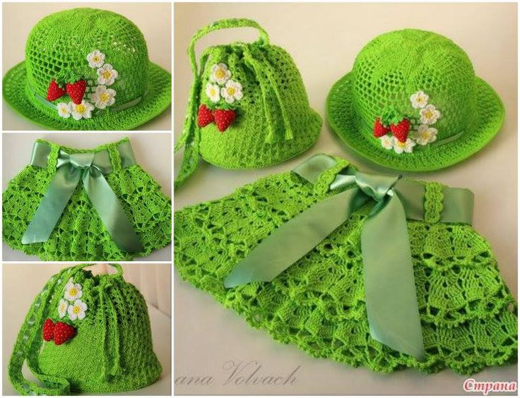 You will love to make your little girl this gorgeous Crochet Ensemble. It's a lovely FREE Pattern.