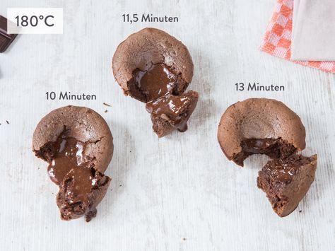 Schokokuchen mit flüssigem Kern – 5 Rezepte im Test, 1 klarer Sieger – Muffins und Cupcakes