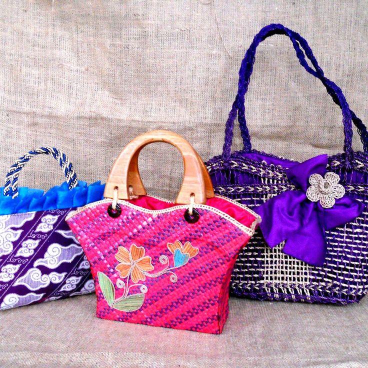 Handbags. From Indonesia
