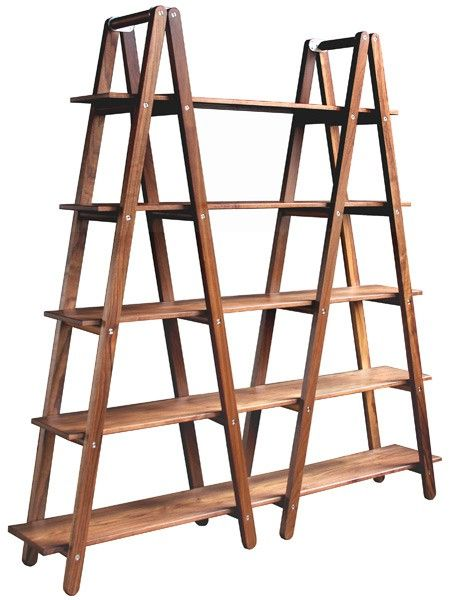 This can be done with two ladders and boards. Think this would really work on a porch with potted plants